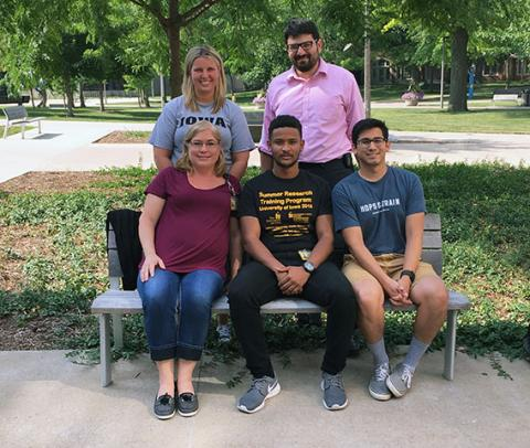 Shadi Shariff with Tanas Lab Group at Graduation