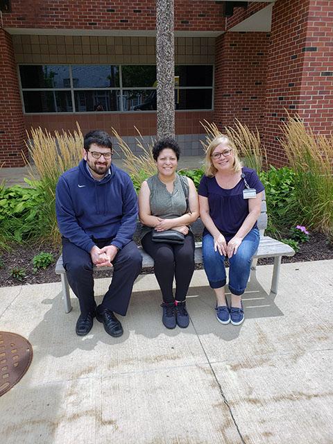 Dr. Tanas, Rut Ortiz and Colleen Fullenkamp